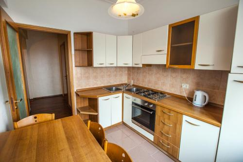A kitchen or kitchenette at Standard Brusnika Apartments Krasnoselskaya
