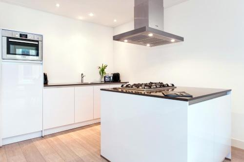A kitchen or kitchenette at Cityden Rijksmuseum Serviced Apartments
