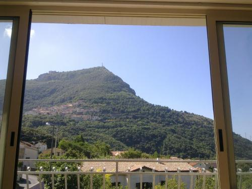 A general mountain view or a mountain view taken from the apartment
