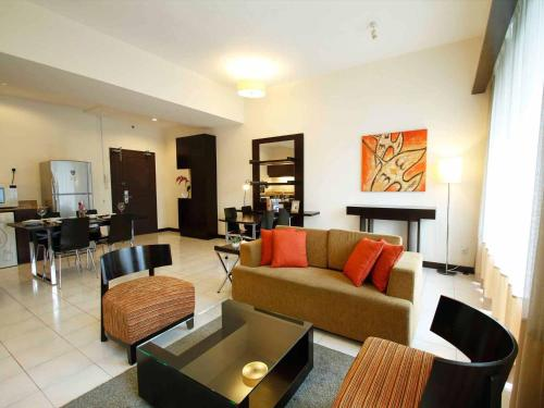 A seating area at A BEST Seri Bukit Ceylon Serviced Residence