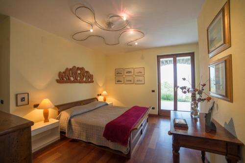 A bed or beds in a room at Villa Gaia
