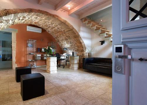 The lobby or reception area at Boutique Hotel Fortino