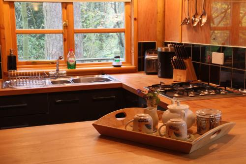 A kitchen or kitchenette at Pinetum Lodge