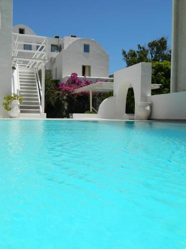 The swimming pool at or near Villa Vergina