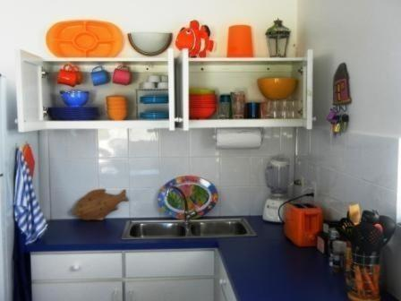 A kitchen or kitchenette at Marazul Dive Resort Ocean Front