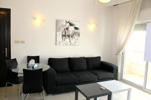 A seating area at The Place Apartments