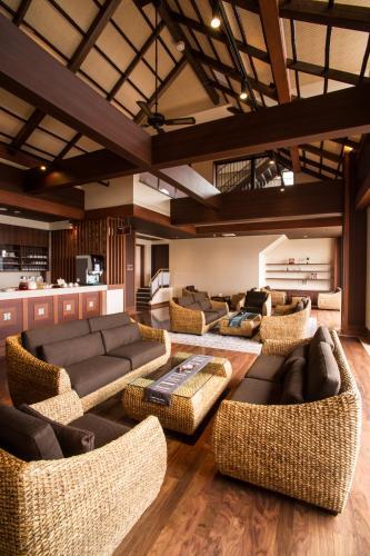 A seating area at Shinyu no Yado SAZANA