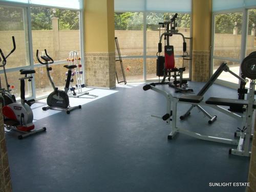 Das Fitnesscenter und/oder die Fitnesseinrichtungen in der Unterkunft Banana Garden A