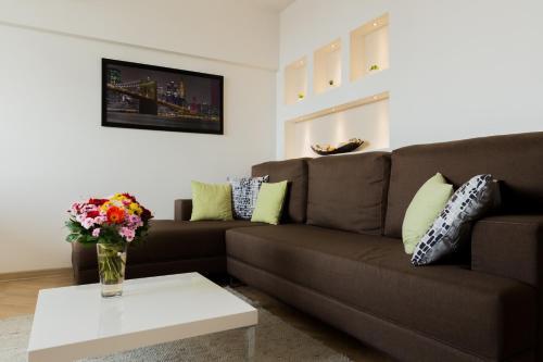 Prostor za sedenje u objektu Apartment Admiral