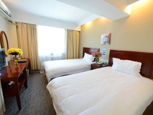 住宿 GreenTree Inn Jiangsu Taizhou Taixing East Guoqing Road RT-Mart Business Hotel 格林豪泰江蘇省泰州市泰興市國慶東路大潤發商務酒店, Shilidian, 中國