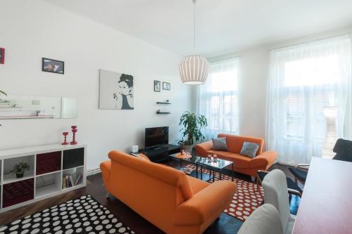 Гостиная зона в Ostrovni Apartment