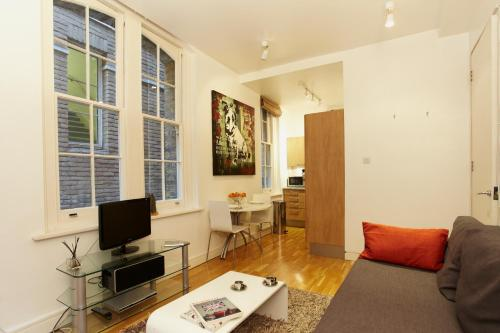 A television and/or entertainment center at Saint Paul's Apartment
