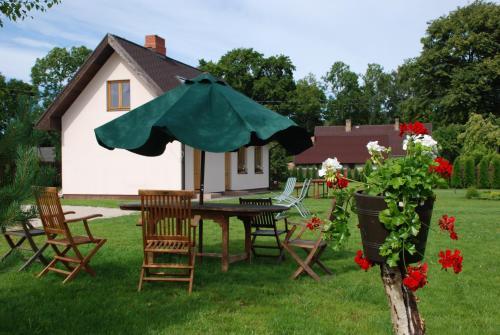 A garden outside Brīvdienu Māja Riekstnieki