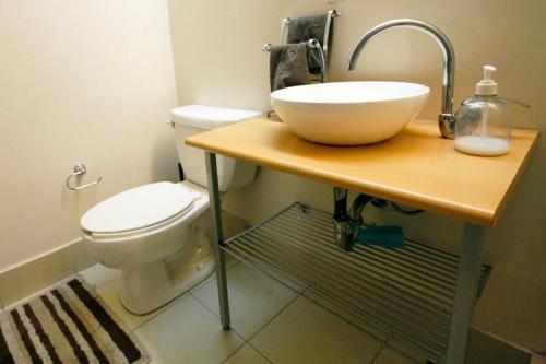 A bathroom at Alameda Centro Historico Apartment