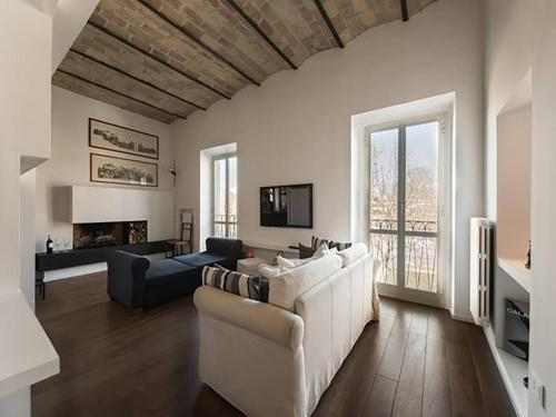 Zona de estar de Over The Tiber Loft
