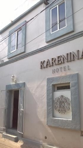 The facade or entrance of Hotel Karenina