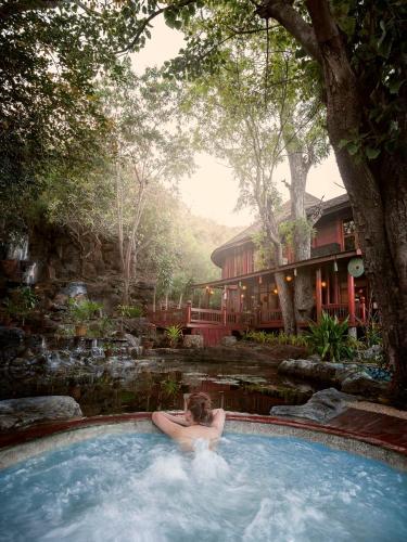 The swimming pool at or near Pristine Lotus Resort (Inle)