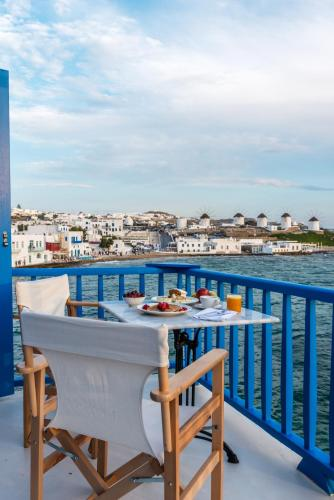 A balcony or terrace at Bluetopia Suites