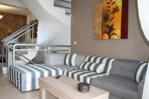 A seating area at Paressa Villas