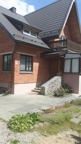 A porch or other outdoor area at Genovaites apartamentai Trakuose