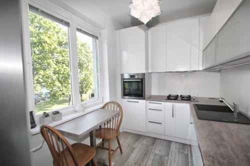 Virtuve vai virtuves aprīkojums naktsmītnē Apartment Garden