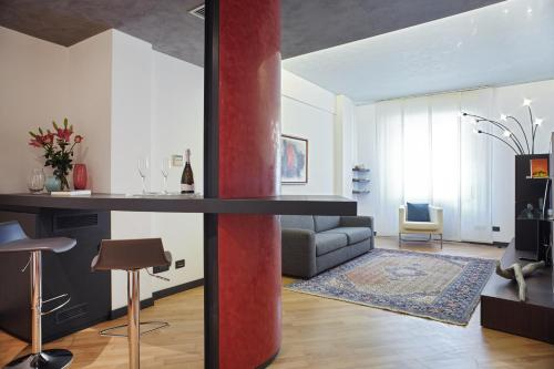 The lounge or bar area at Appartamento I Tenori