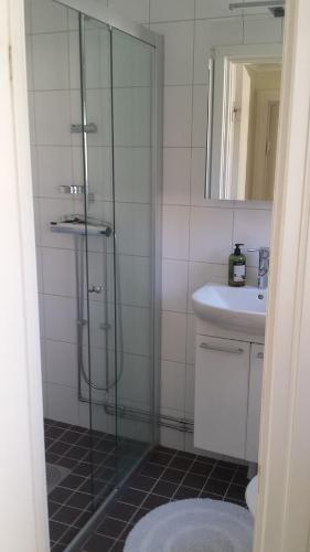 Kylpyhuone majoituspaikassa Lilla Munkhagen