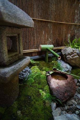 BBQ facilities available to guests at the ryokan