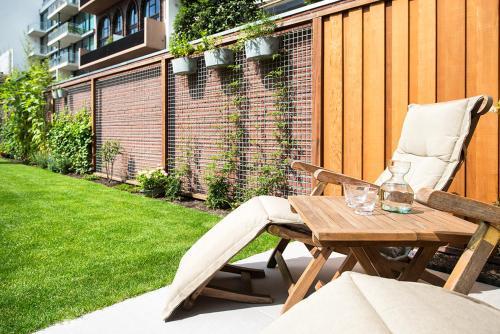 A porch or other outdoor area at Amstel Villa Studio Garden