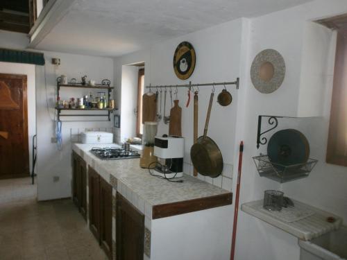 Küche/Küchenzeile in der Unterkunft La Torre di Morcella