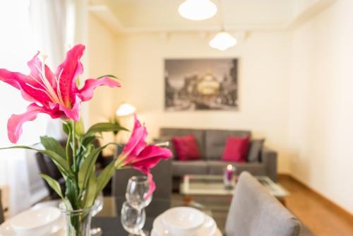 Ein Sitzbereich in der Unterkunft Apartamento Jardines