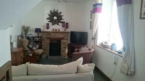 A seating area at Rudge Cottage