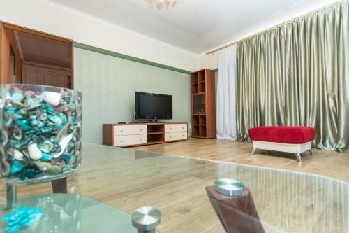Телевизор и/или развлекательный центр в Family Apartments on Kamala