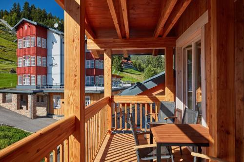 Ein Balkon oder eine Terrasse in der Unterkunft Kovárna Residence