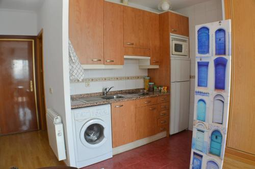 A kitchen or kitchenette at Panoramic Charming Studio