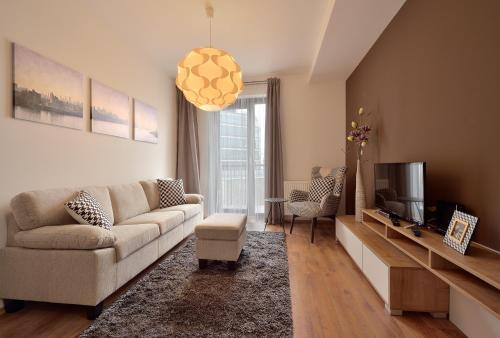 The lounge or bar area at Charming&Cozy-Ambiente Apartments