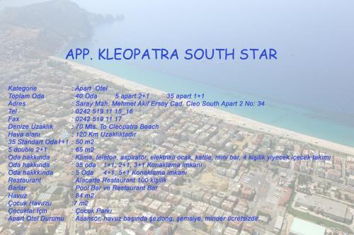 Een luchtfoto van Kleopatra South Star Apart