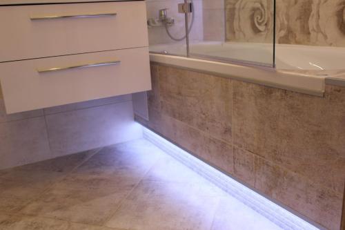 A bathroom at LEO Apartment Spitalska Bratislava