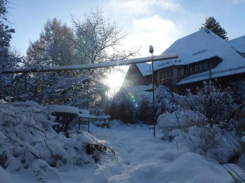 Villa-Hufeland during the winter