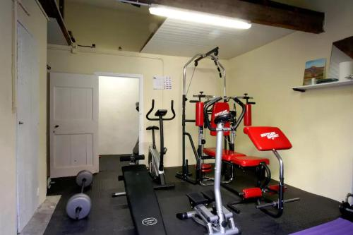 The fitness center and/or fitness facilities at Maison Saint Jules