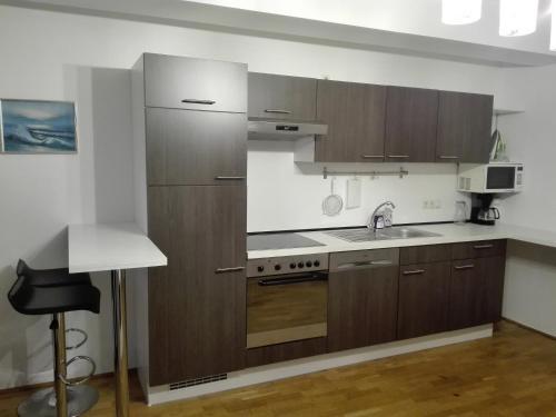 Кухня або міні-кухня у 1,5 Zimmer-Apartment