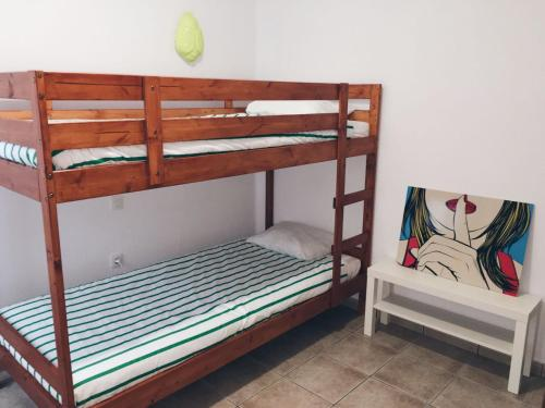 A bunk bed or bunk beds in a room at Casa Mar
