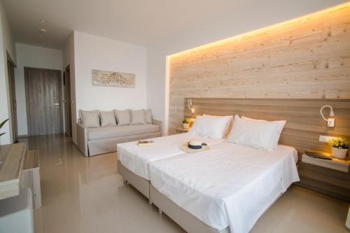 Ένα ή περισσότερα κρεβάτια σε δωμάτιο στο Orpheus Studios