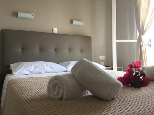 Ένα ή περισσότερα κρεβάτια σε δωμάτιο στο Sea Sound