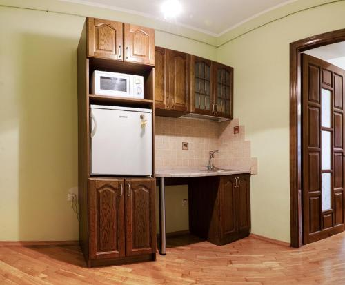 A kitchen or kitchenette at Apartments in the Historical Centre - Lviv