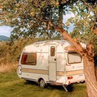 Vintage Caravan in The Black Mountains