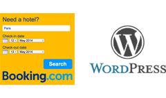 Vtičnik Booking.com za iskalno okno za Wordpress