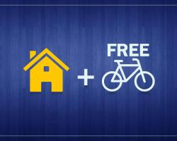 The apartment with free mountain bike