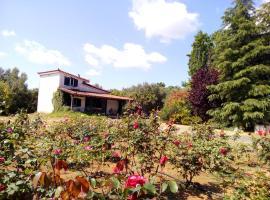 Beautiful cottage with a rose garden, Oikhalía (рядом с городом Psárion)