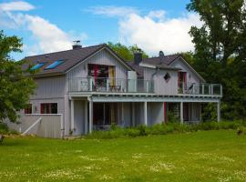 Ferienwohnung im Blockhaus Askjell, Ulsnis (Steinfeld yakınında)